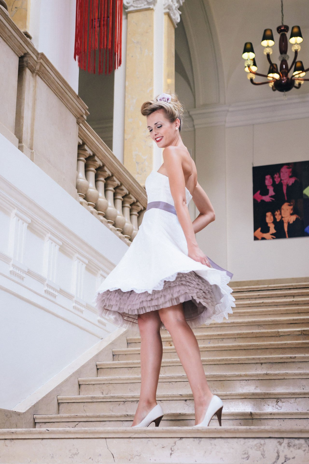Brautkleid Petticoat - kurzes Spitzenkleid im 50er Jahre Stil