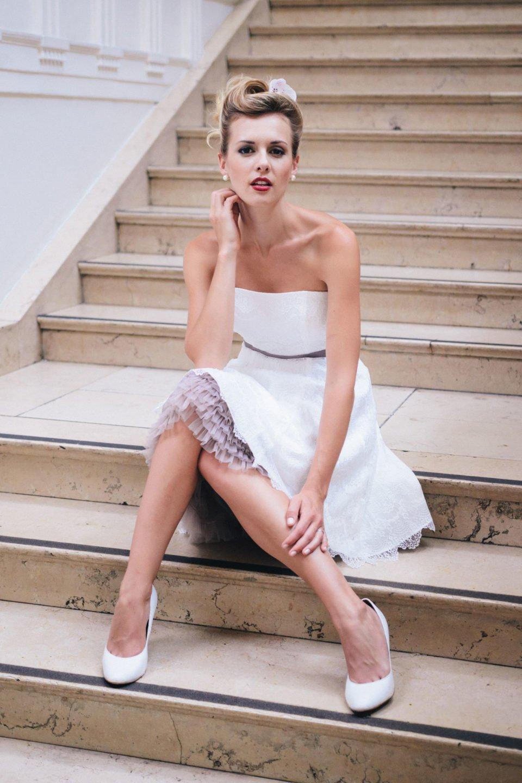 Brautkleid Petticoat kurz