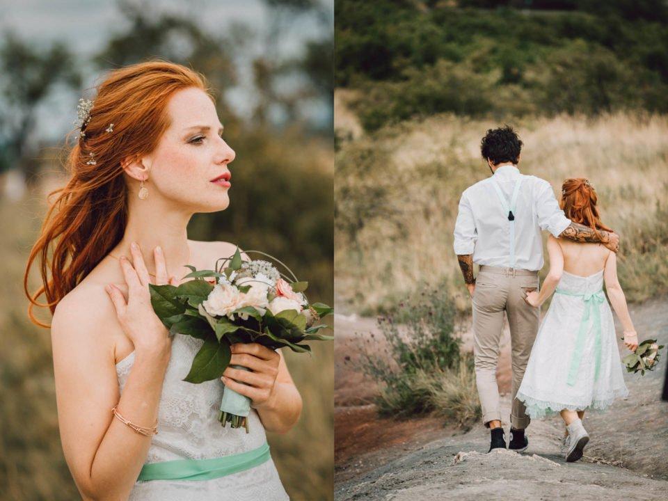 Brautkleid mit Petticoat Türkis