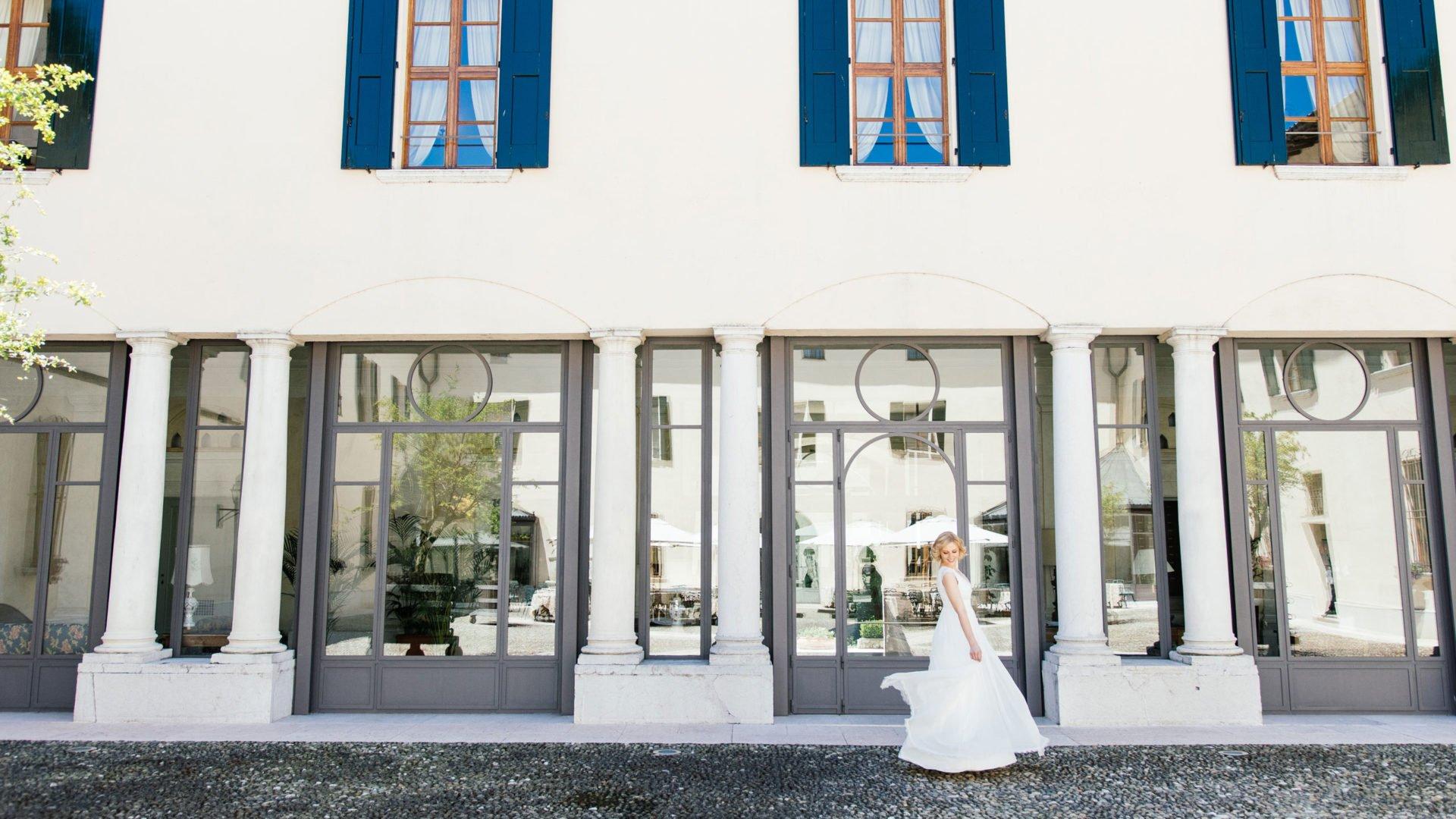 Brautkleid Seide leicht