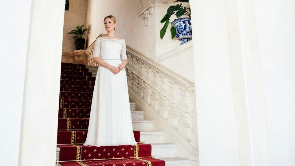 Brautkleid Spitze Ärmel – Vintage Bolero Look