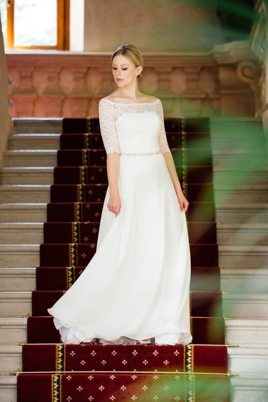 Brautkleid Spitze Ärmel – Vintage Bolero Look mit ...