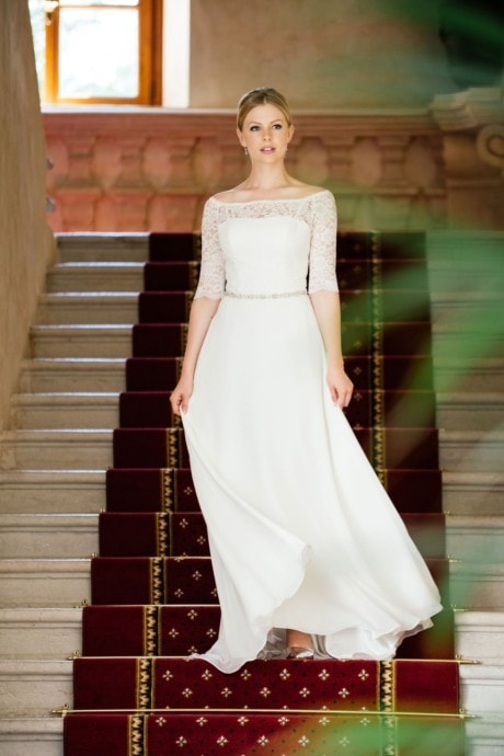 Brautkleid Spitze Ärmel – Vintage Bolero Look – Pola