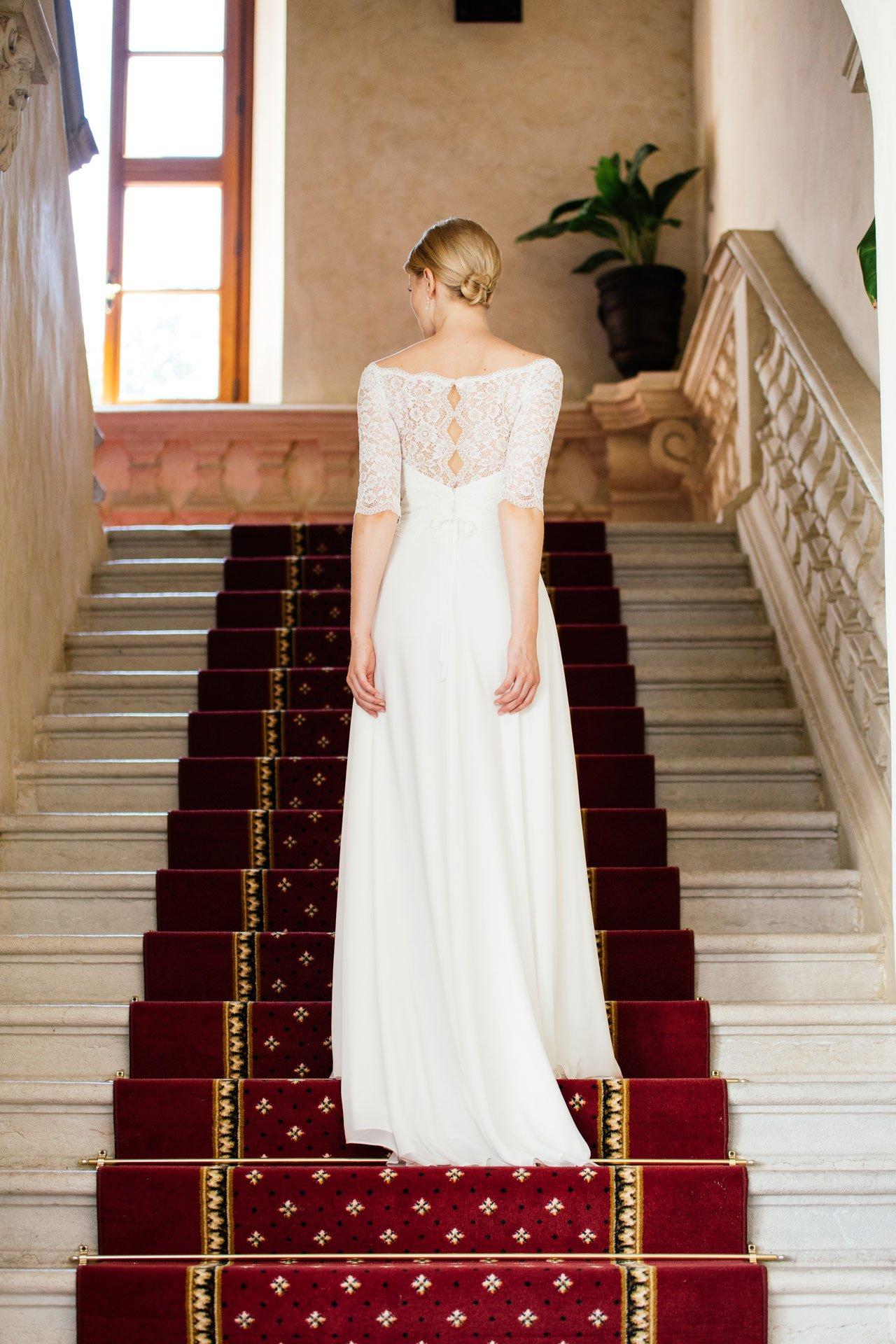 Brautkleid Spitze Ärmel – Vintage Bolero