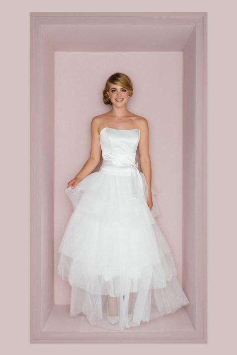 Stufiger Tüllrock für die Braut