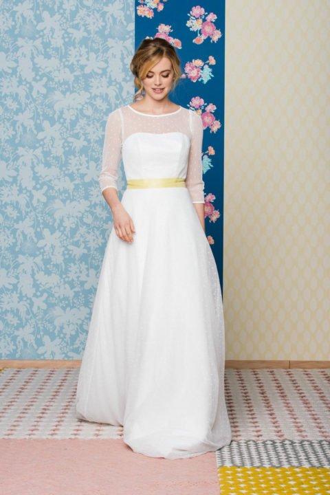 Brautrock aus Tupfentüll für die Hochzeit