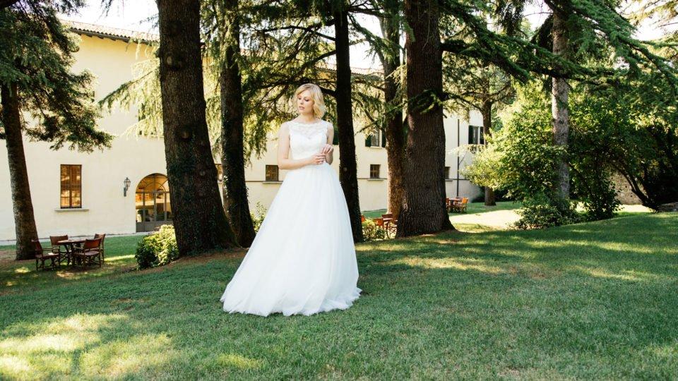 Duchesse Brautkleid im 50er Jahre Stil