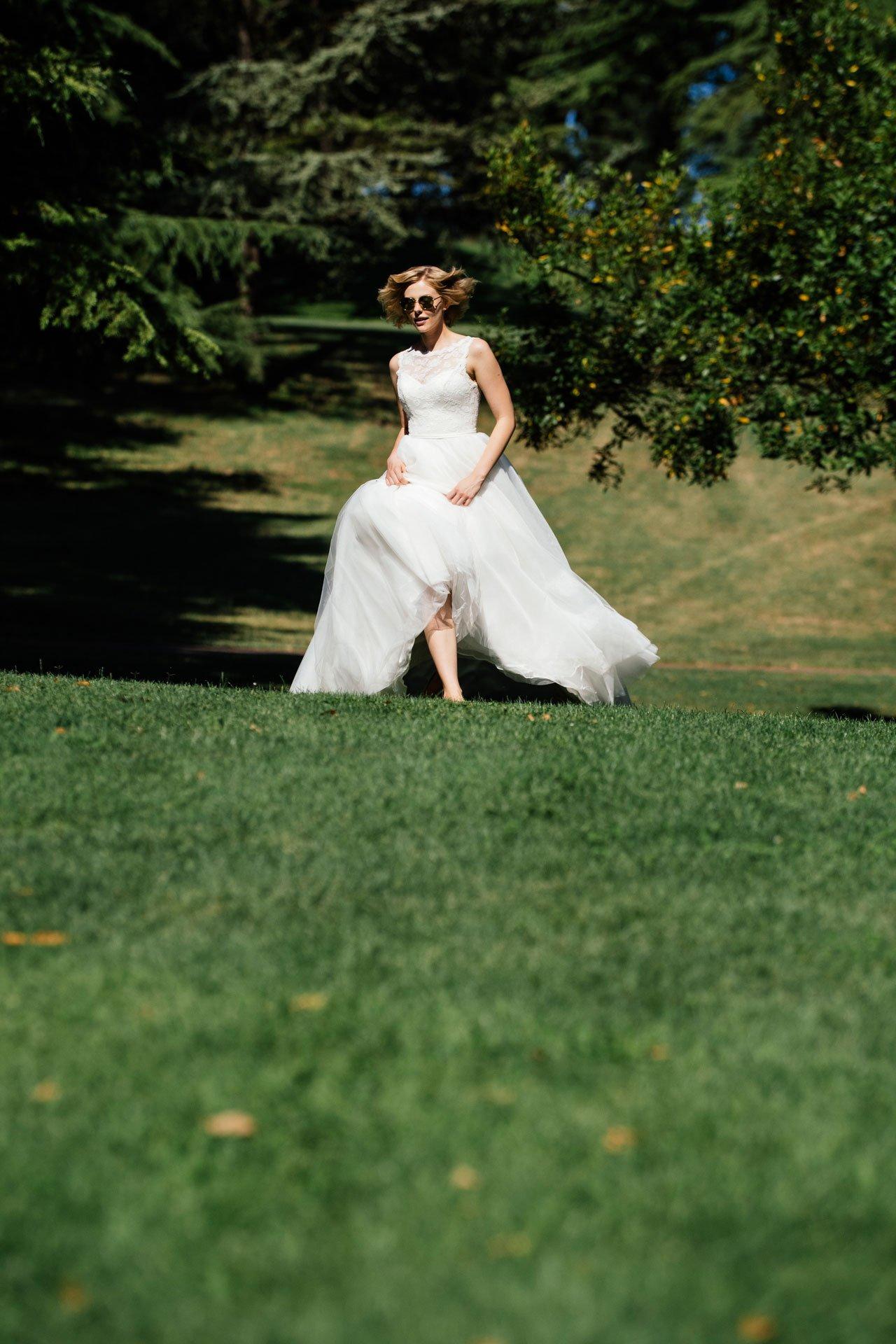 Duchesse Brautkleid Laufbild