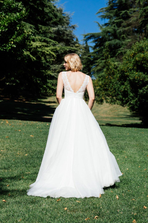 Duchesse Brautkleid rückenfrei