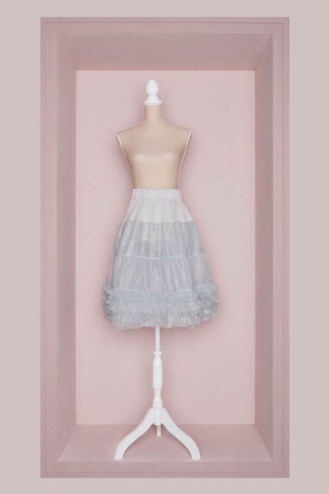 Brautkleid Petticoat grau