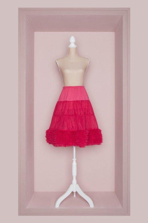 Petticoat Brautkleid pink
