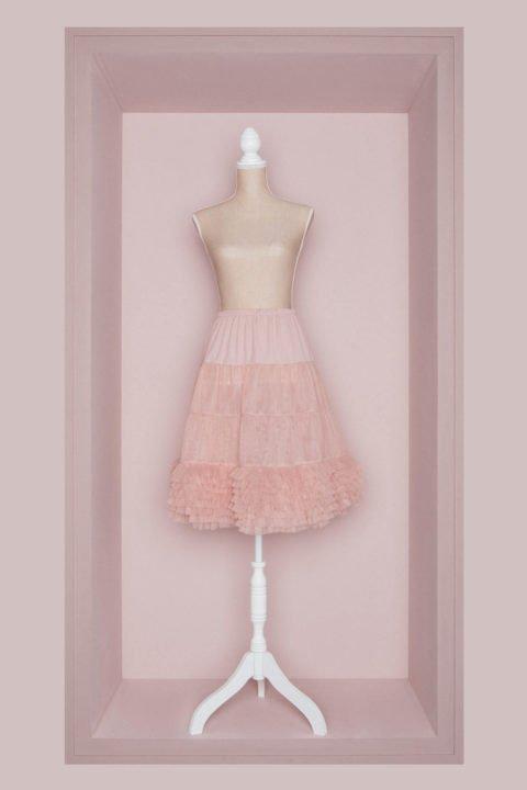 Petticoat Brautkleid rose
