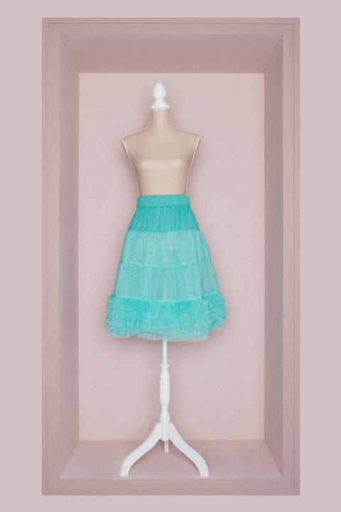 Petticoat Brautkleid türkis