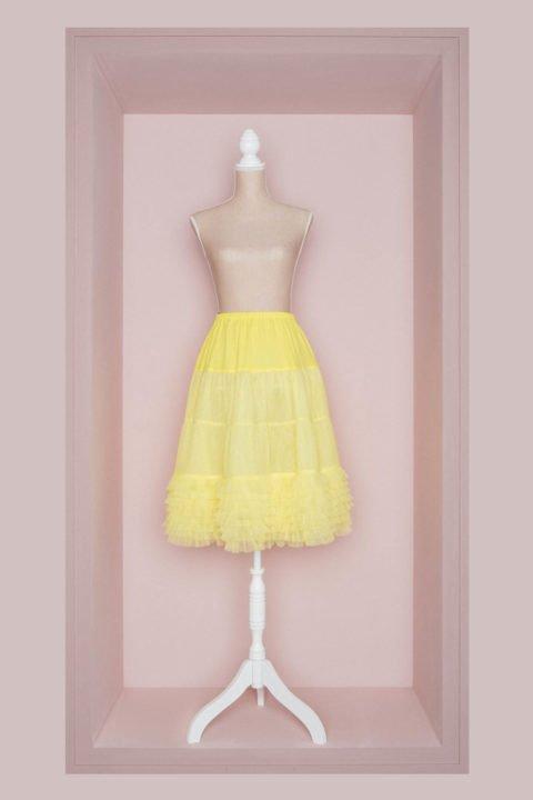 Petticoat Brautkleid gelb