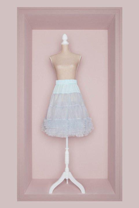 Petticoat Brautkleid hellblau