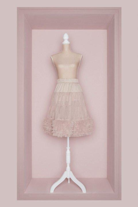 Brautkleid Petticoat taupe