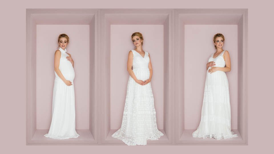 schwanger heiraten lange Brautkleider
