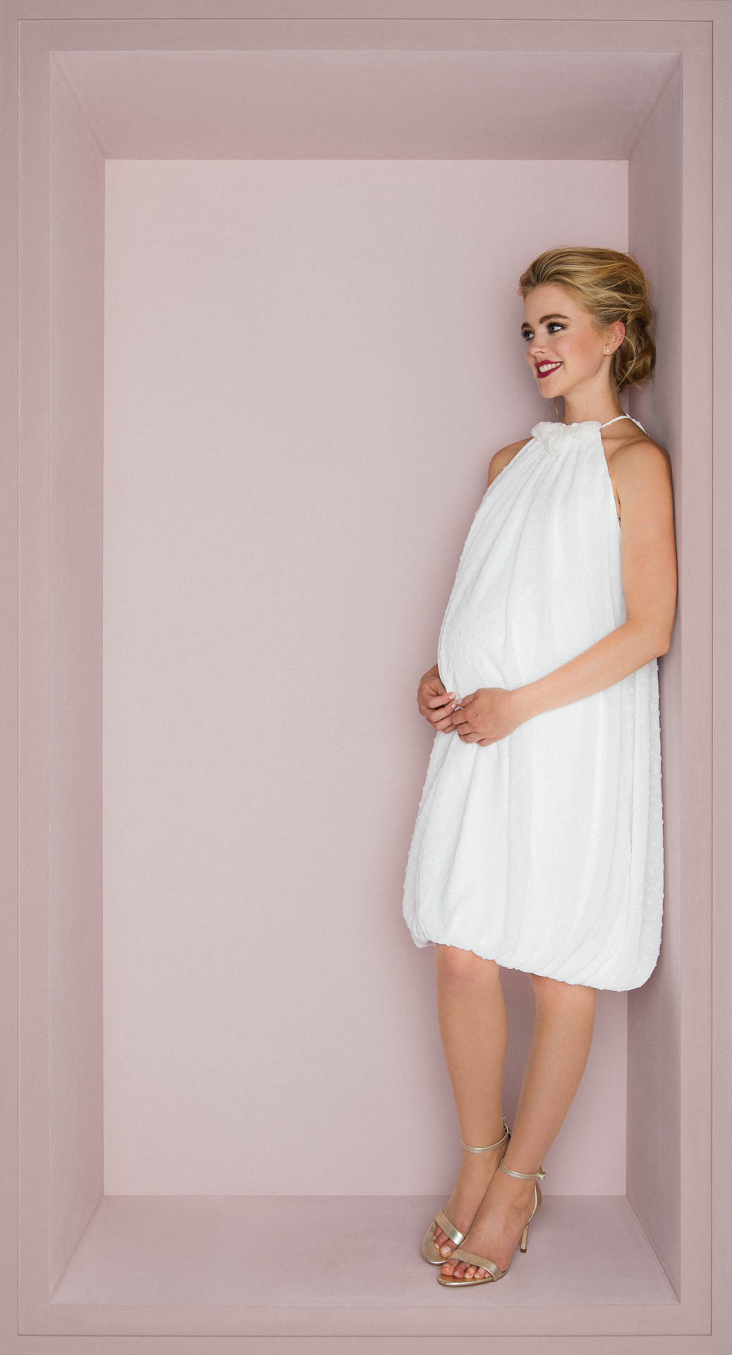 Standesamtkleider kurz schwanger