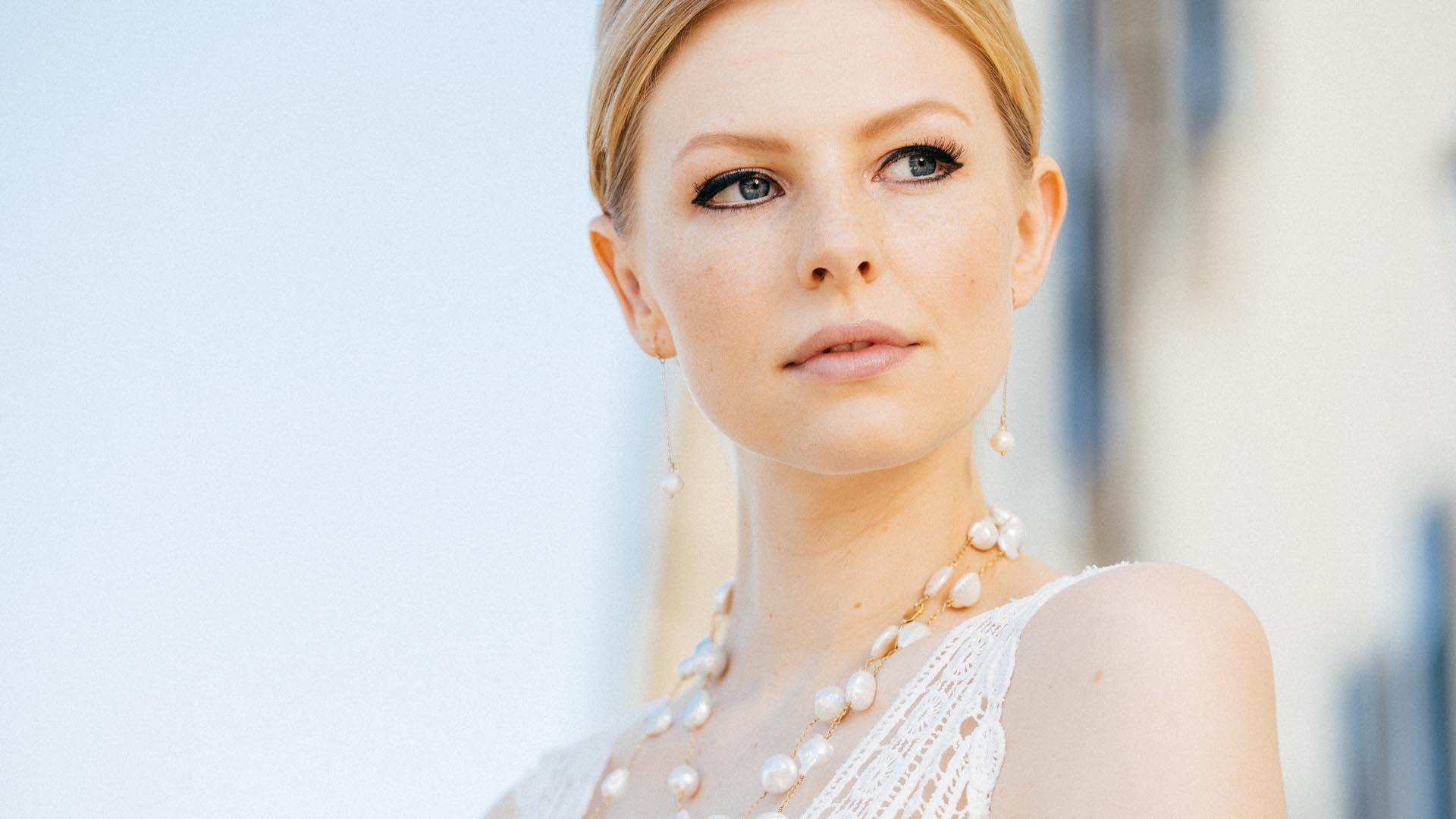 Brautschmuck Ohrringe und Halskette