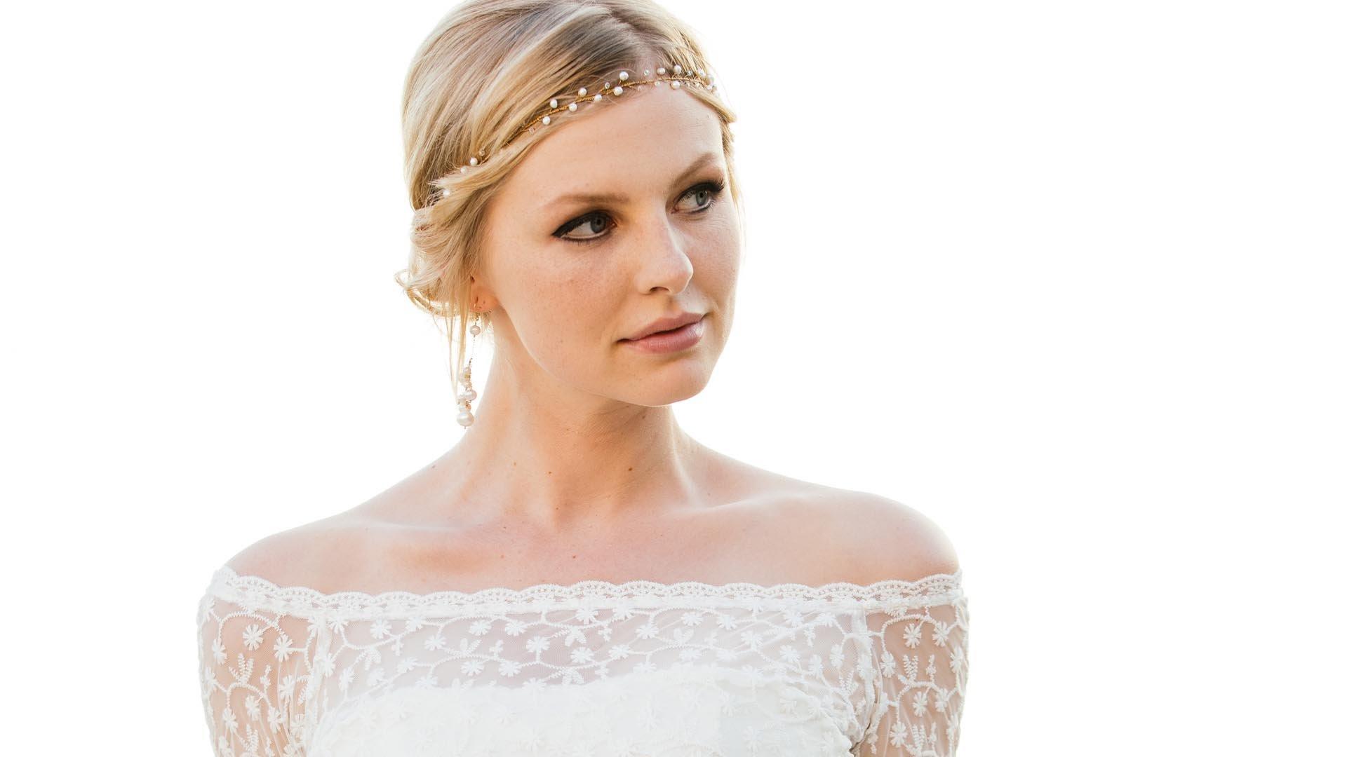 Headpiece und Ohrringe als Brautschmuck