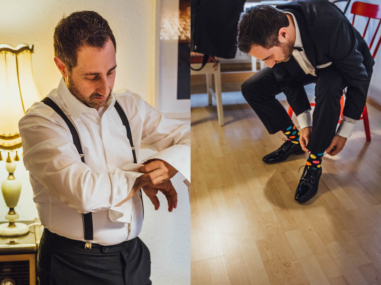 Bräutigam mit Happy Socks