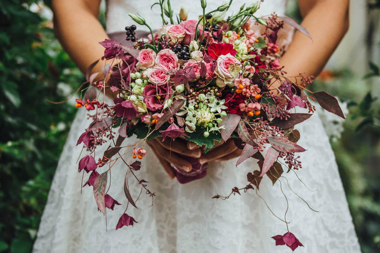 Brautstrauß Herbsthochzeit