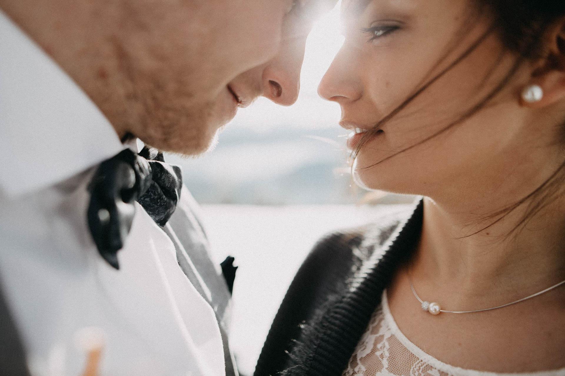 küss die Braut in küssdiebraut im Winter