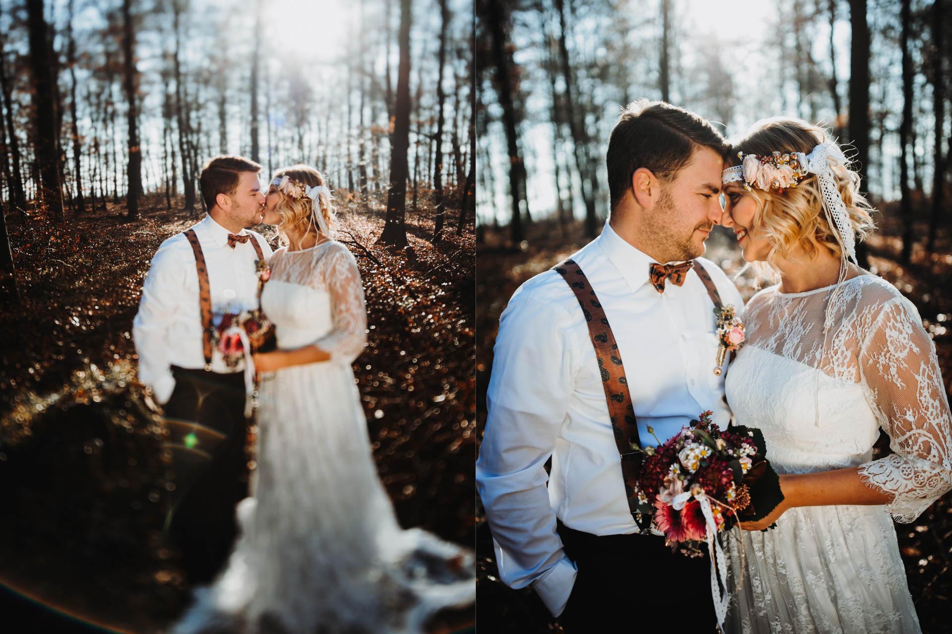 Brautpaar himmelt sich an