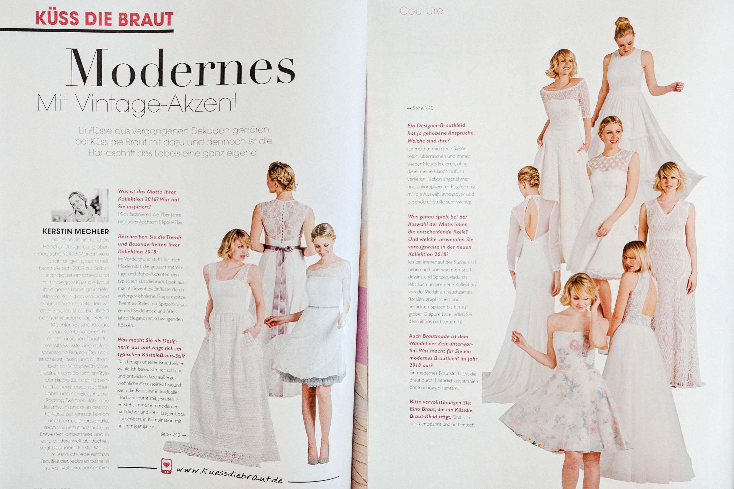 Modernens mit Vintage-Akzent – küssdiebraut im Hochzeit Magazin