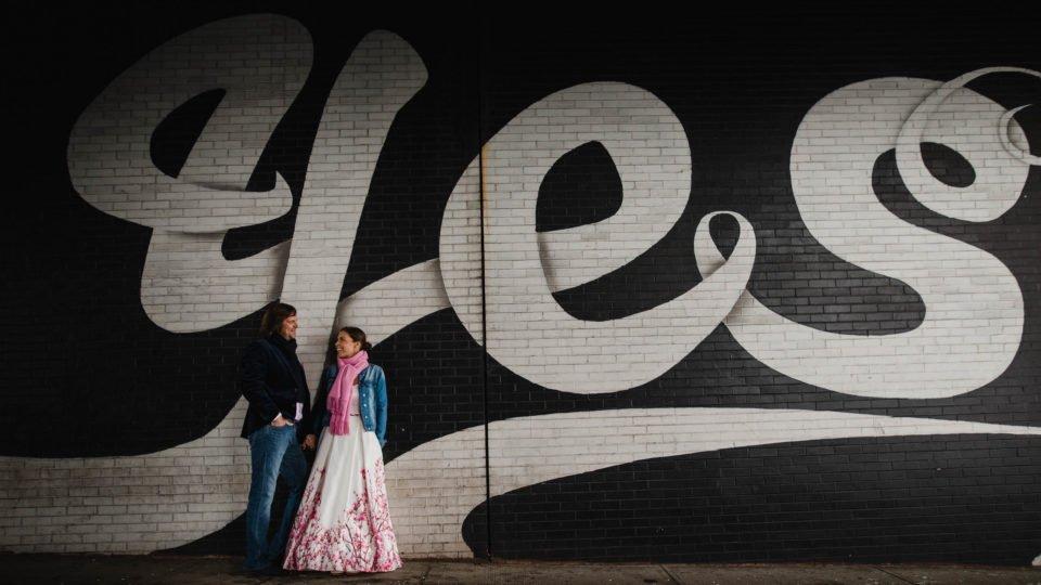 Brautkleid mit Farbe New York