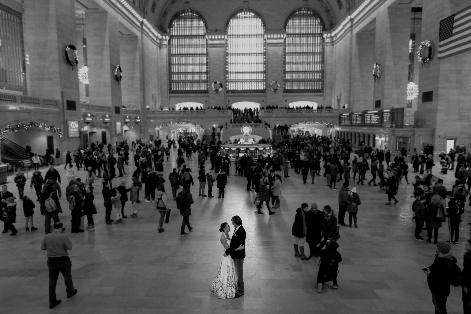Brautpaar in New York