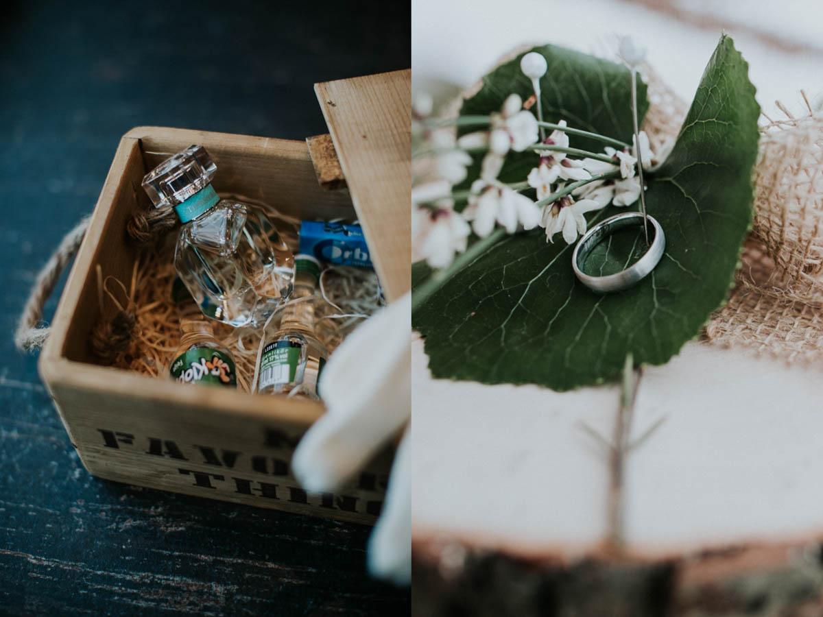 Parfum und Hochzeitsring
