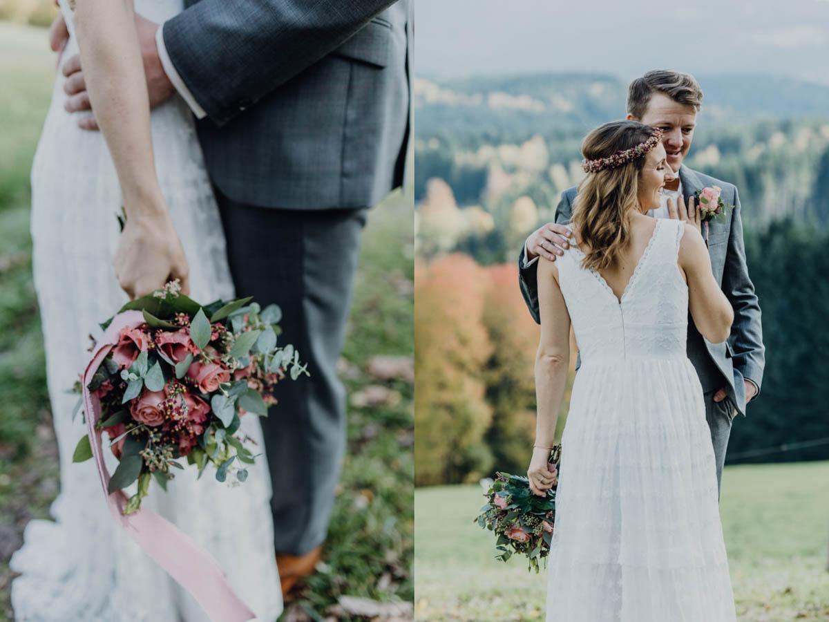 Brautstrauss beim Brautpaar-Fotoshoot