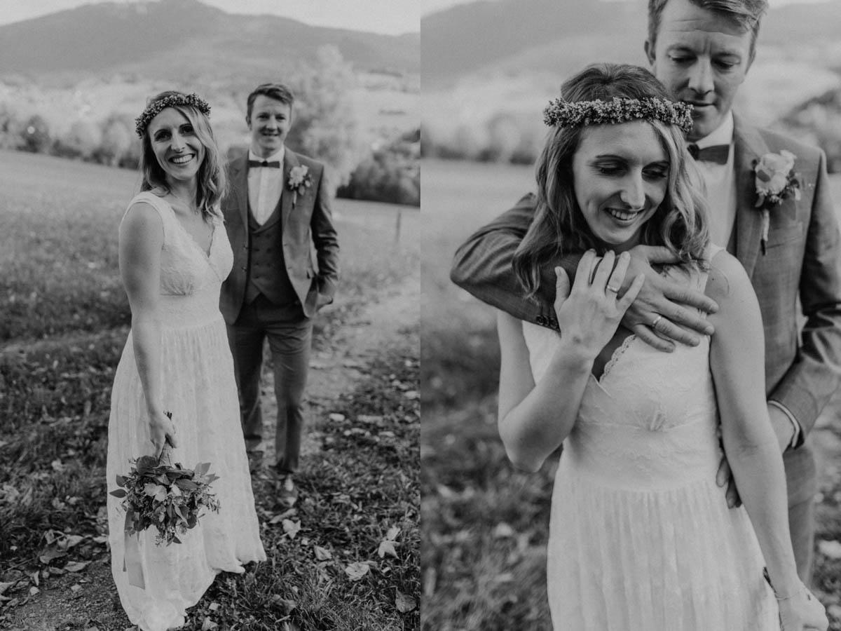 Hippie Braut mit Bräutigam