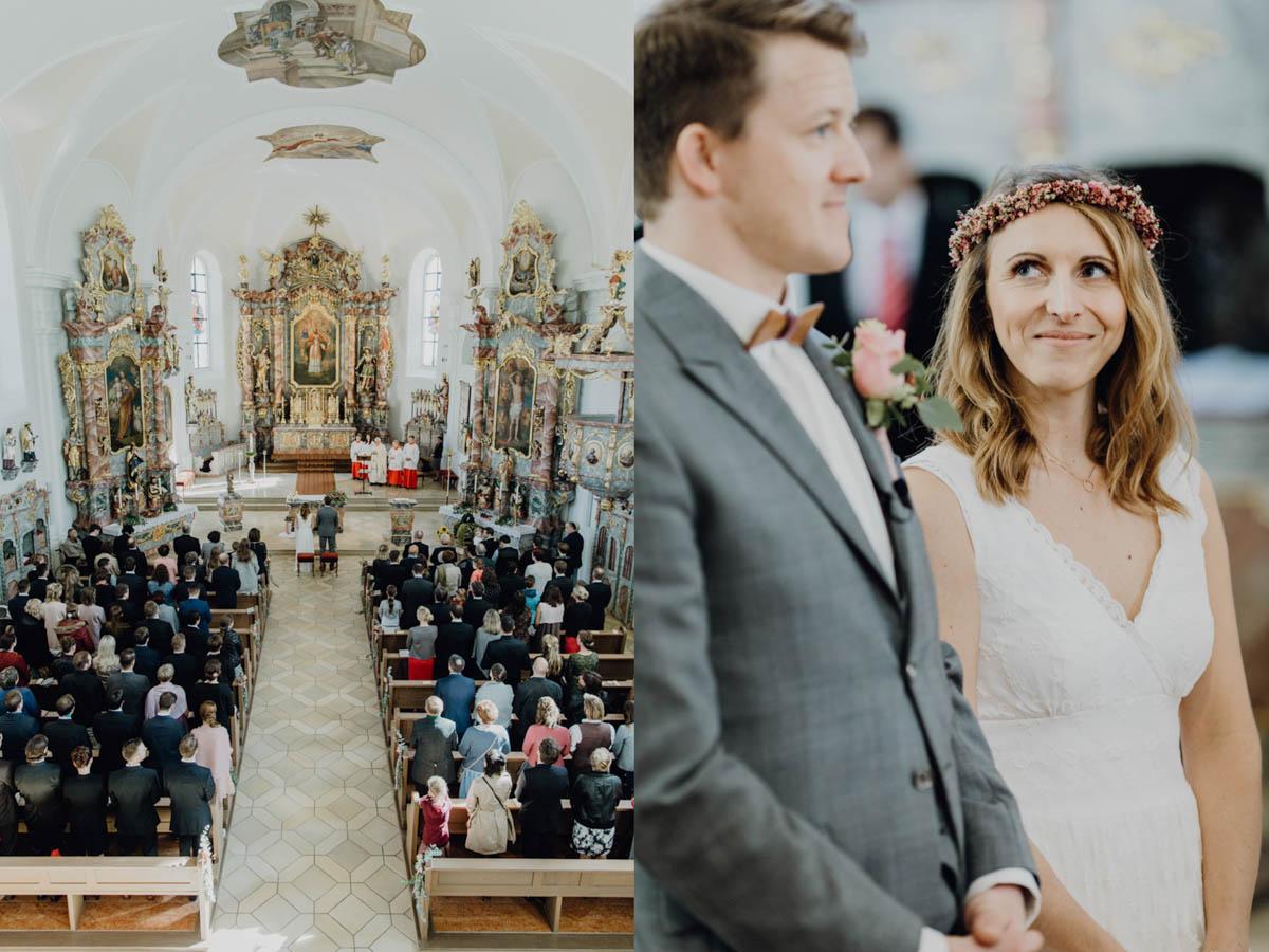 kirchliche Trauung, Braut himmelt Bräutigam an