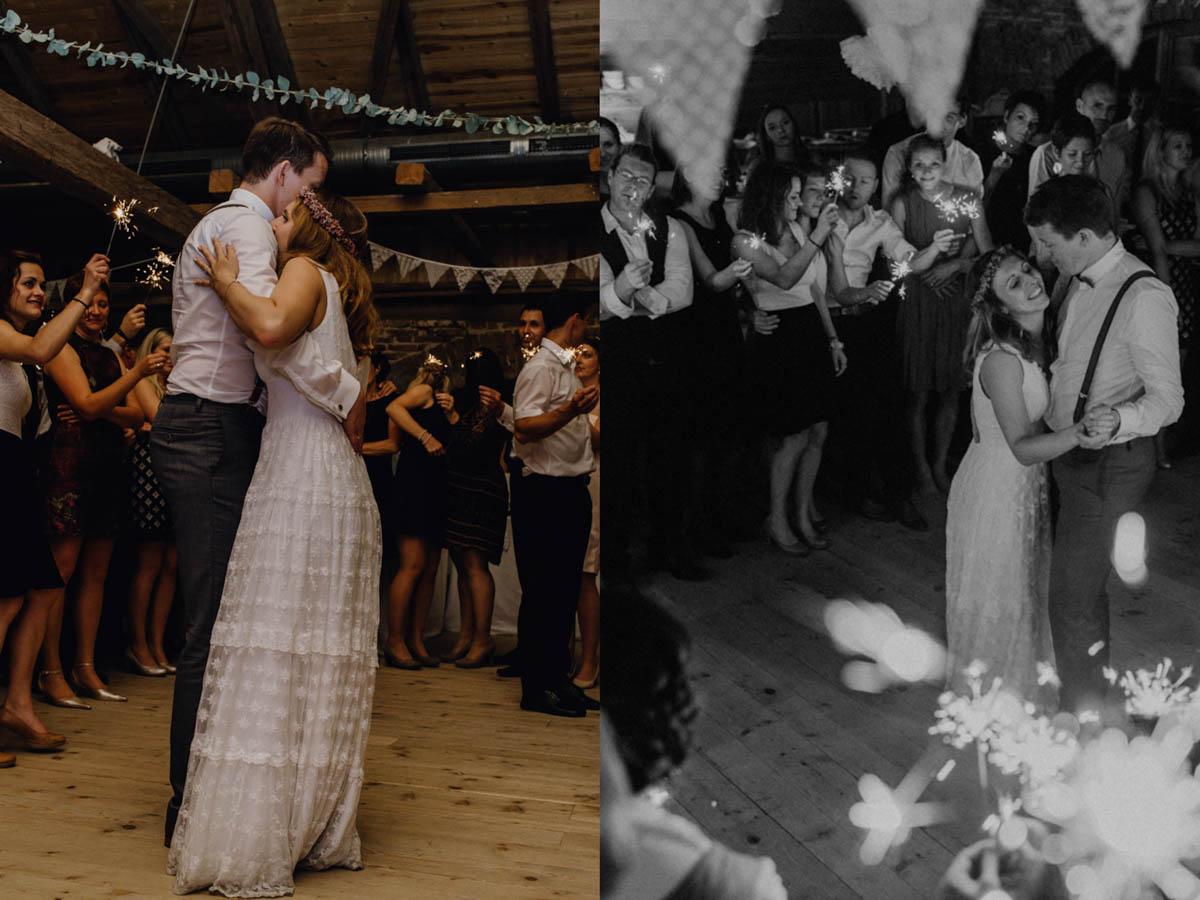 Hochzeitstanz nach kirchlicher Trauung