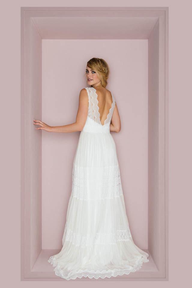 Brautkleider Schlicht Spitze Vintage Kuss Die Braut
