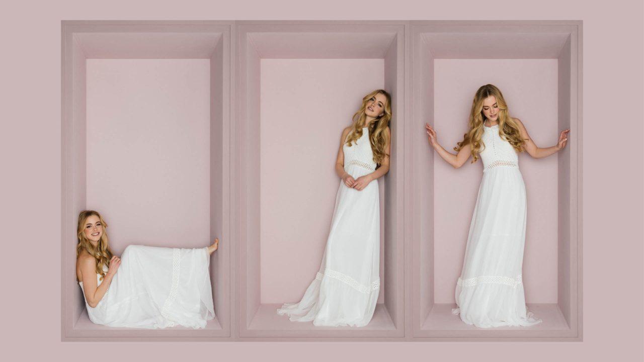 Neckholder Brautkleid Im Angesagten Ibiza Style Luftiger Rock Und