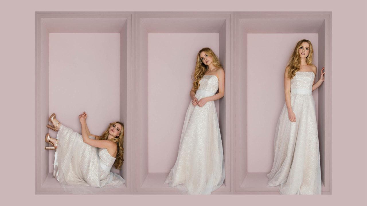 Brautkleid farbig Loretta