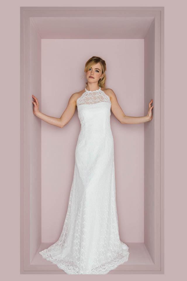 Figurbetontes Brautkleid mit amerikanischem Armausschnitt – Curlie