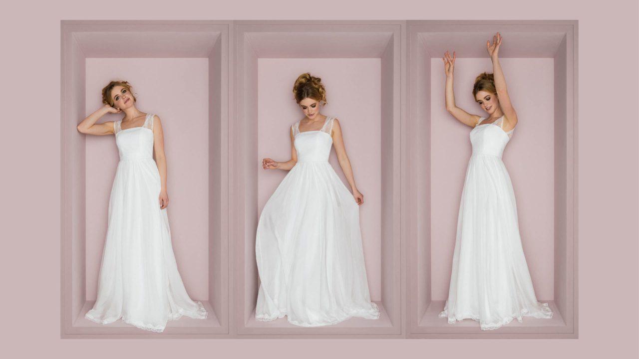 Brautkleid mit Trägern Anu