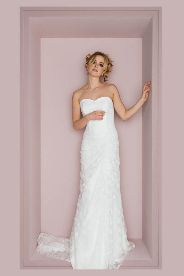 Fit and Flare Brautkleid mit Herzausschnitt und Schleppe – Thea
