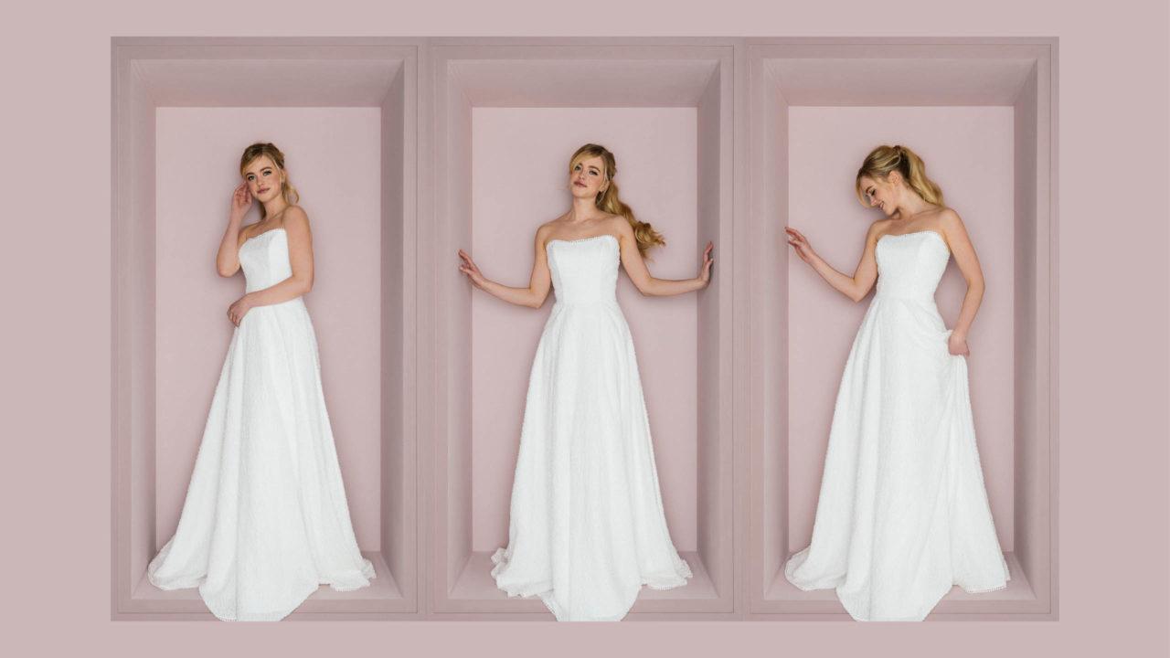 Hochzeitskleid trägerloses Trudi
