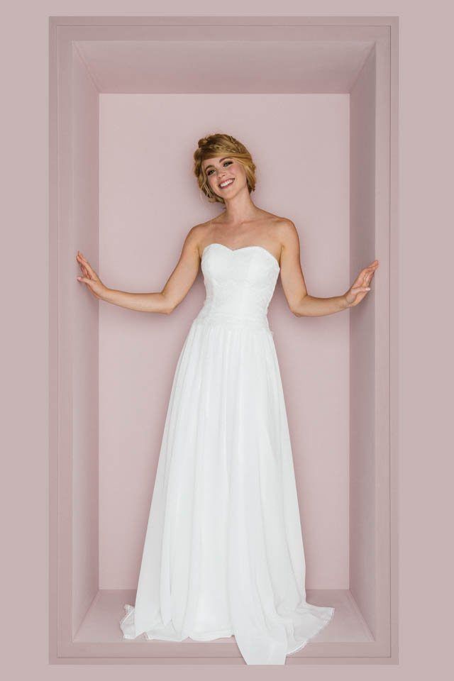 Brautkleid 20er Jahre Stil –Vintage Traumkleid mit Chiffonrock – Paulina