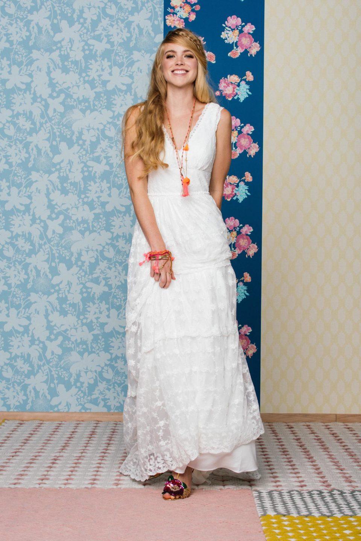 Hippie Hochzeitskleid