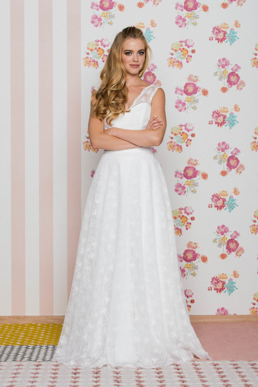 Brautkleid mit V-Ausschnitt Valerie