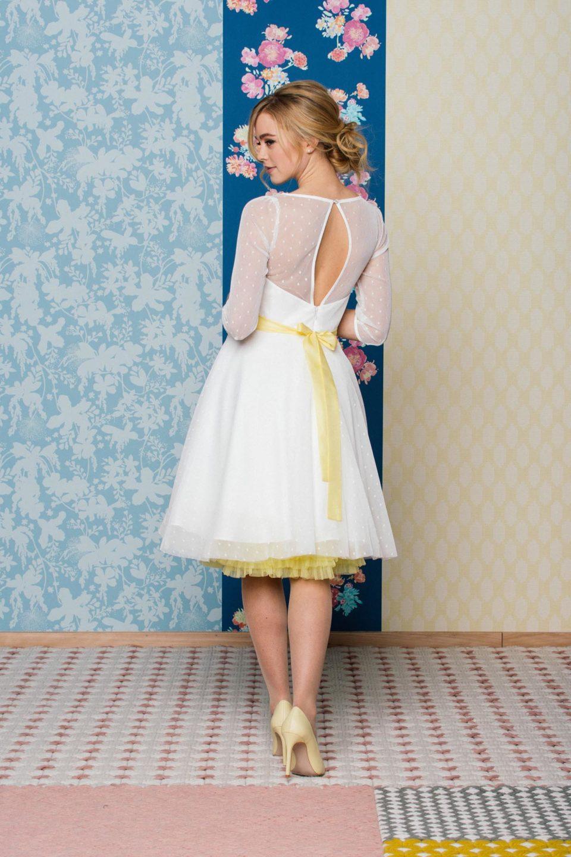 Rockabilly Hochzeitskleid von hinten
