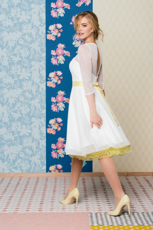 Rockabilly Brautkleid mit Petticoat