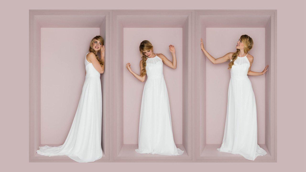 schlichtes Brautkleid - schmal und clean