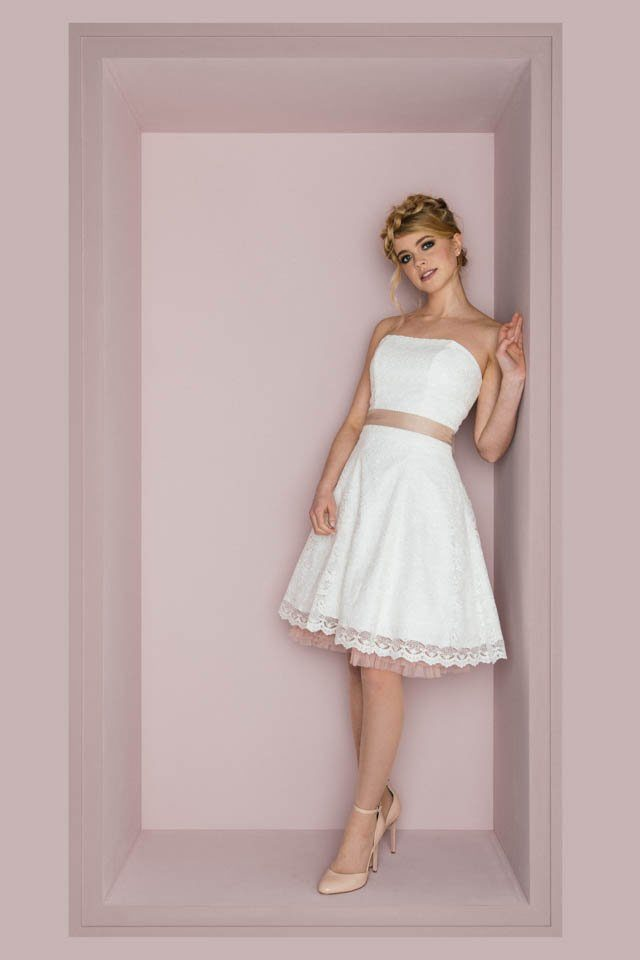 Brautkleid Fã¼Rs Standesamt | Kurze Brautkleider Standesamt Hochzeitskleider Lassig Frech